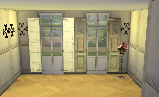 Sims 4 Shutters by Ilona at My little The Sims 3 World