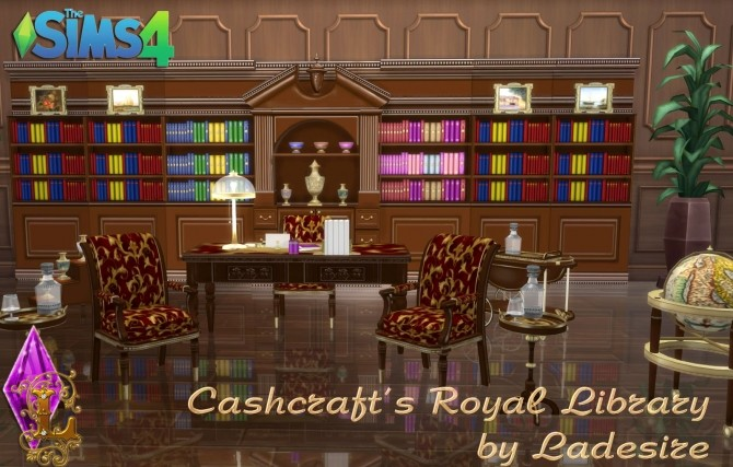 Cashcrafts Royal Library at Ladesire image 452 670x427 Sims 4 Updates