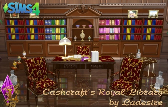 Cashcrafts Royal Library at Ladesire image 462 670x427 Sims 4 Updates