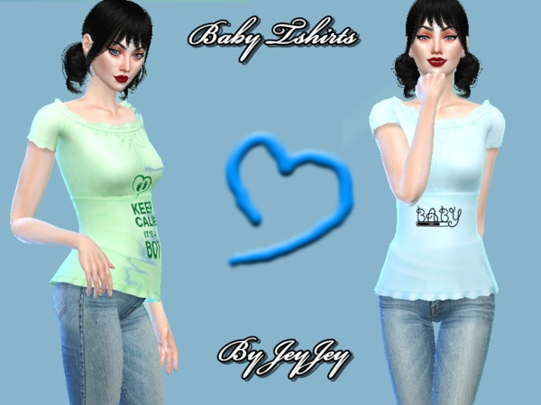 Sims 4 Its a Boy/Girl Top by Naddiswelt at TSR