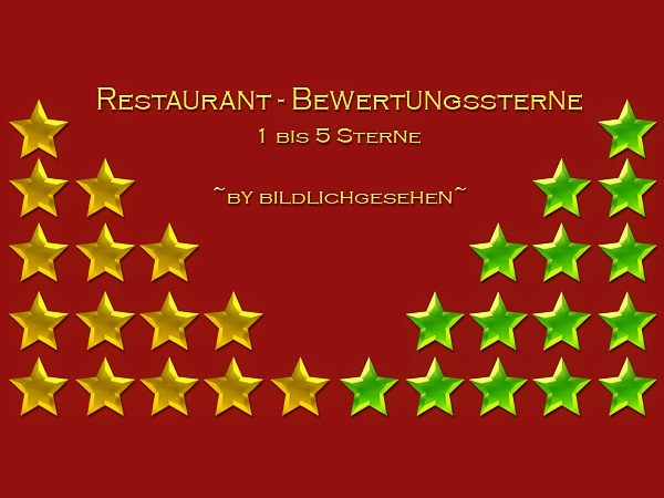 Restaurant star rating by Bildlichgesehen at Akisima image 4919 Sims 4 Updates
