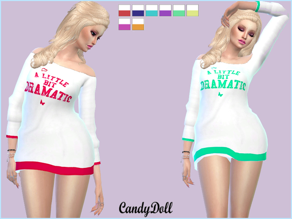 Sims 4 CandyDoll Dramatic Sweater by DivaDelic06 at TSR