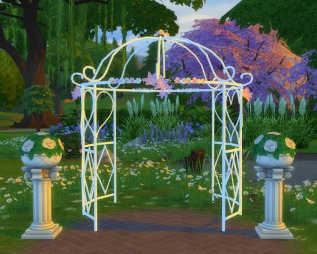 Los sims4 construcci n cenador de jardin for Cenador para jardin