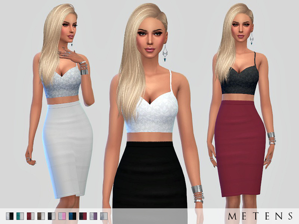 Sims 4 Calendina Dress by Metens at TSR
