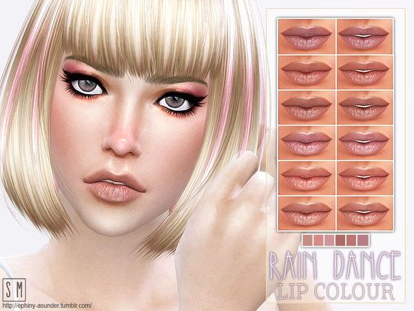 Sims 4 Rain Dance Dry Lip Colour by Screaming Mustard at TSR