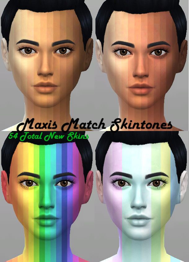 Sims 4 Maxis Match 54 Skintones by Kitty25939 at Mod The Sims
