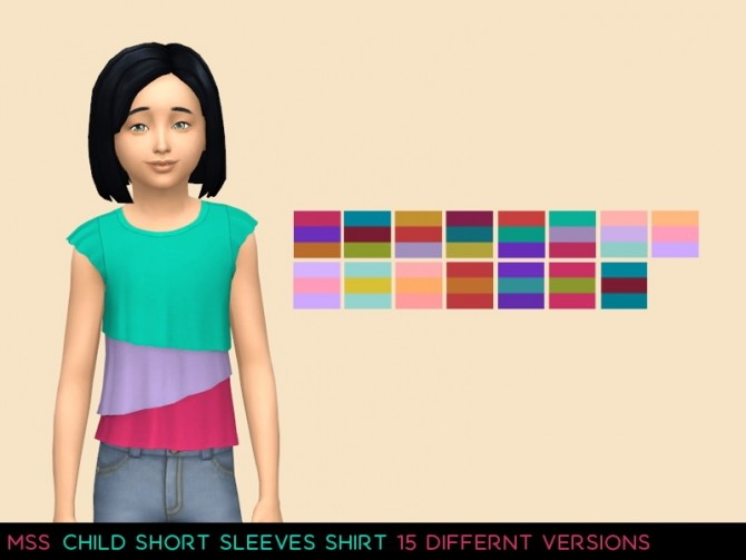 Child Short Sleeves Shirt by midnightskysims at SimsWorkshop image 571 670x503 Sims 4 Updates
