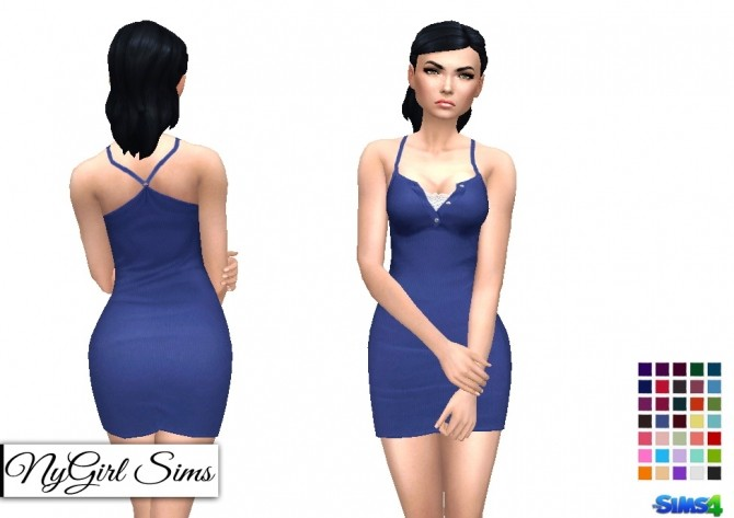 Ribbed Racerback Collared Dress at NyGirl Sims image 5717 670x473 Sims 4 Updates