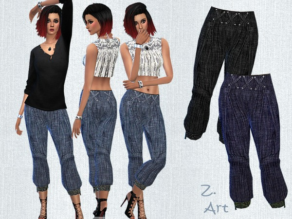 Sims 4 Summer Pants V by Zuckerschnute20 at TSR
