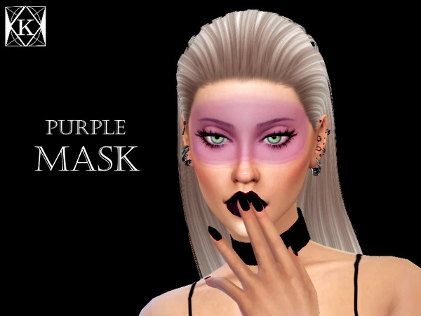 Purple Mask by KiaraQueen at TSR image 5817 Sims 4 Updates