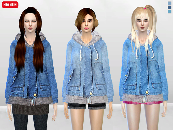 Sims 4 Big Yuki Onna Jacket by McLayneSims at TSR