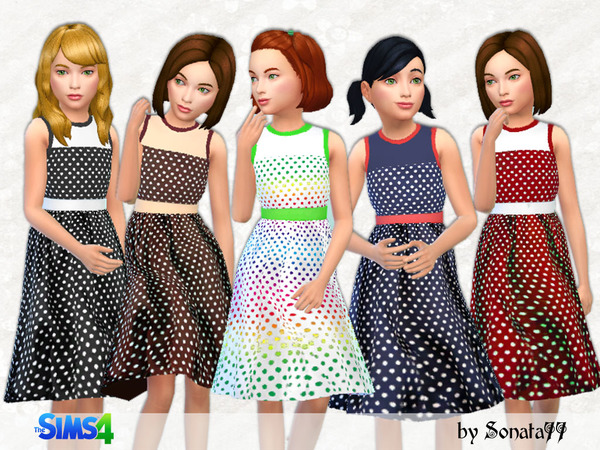 Sims 4 Long dresses for girls 06 by Sonata77 at TSR