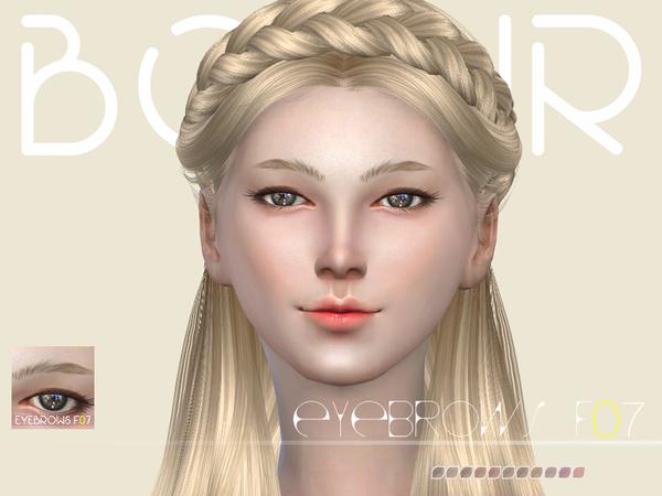 Sims 4 Eyebrows F07 by Bobur3 at TSR