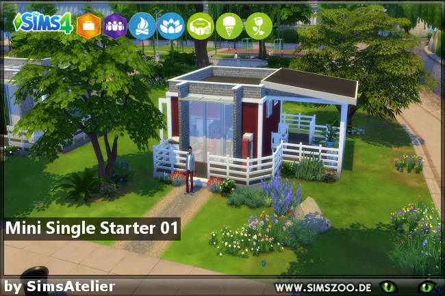 Mini Single Starter by SimsAtelier at Blacky's Sims Zoo image 595 Sims 4 Updates