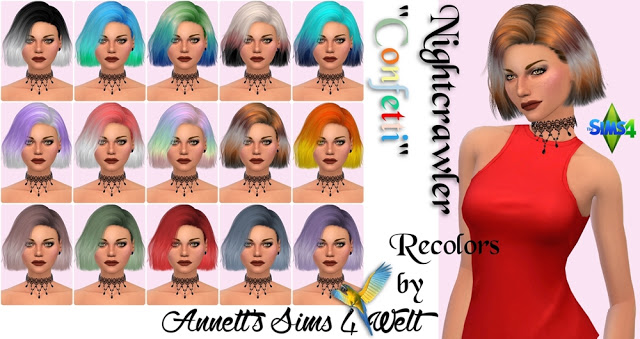 Nightcrawler Hair Confetti Recolors at Annett's Sims 4 Welt image 61 Sims 4 Updates