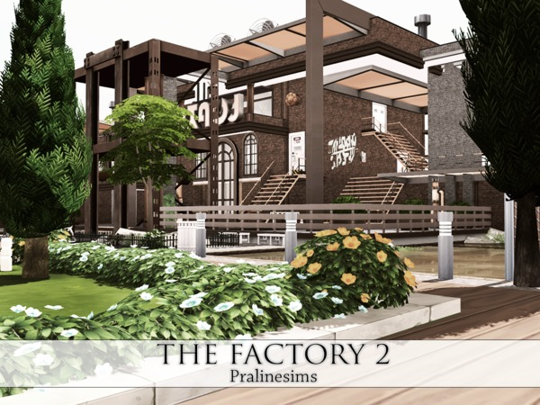 Sims 4 THE FACTORY 2 Industrial Living by Pralinesims at TSR