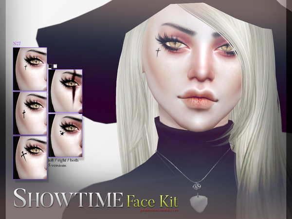 Sims 4 Showtime Face Kit N27 by Pralinesims at TSR