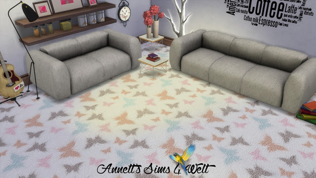 Sims 4 Butterfly Carpet at Annett's Sims 4 Welt