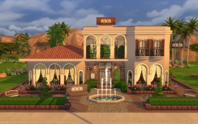 Italian restaurant at via sims updates