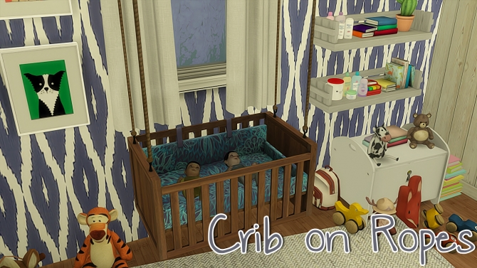 Crib On Ropes By Driana At Tsr 187 Sims 4 Updates
