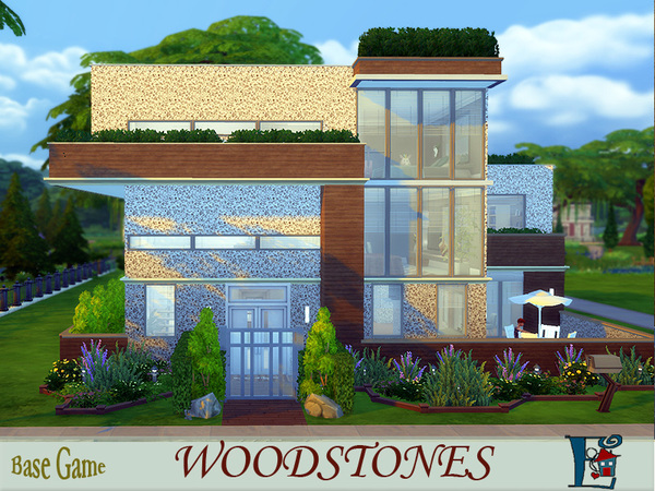 Sims 4 Woodstones house by evi at TSR