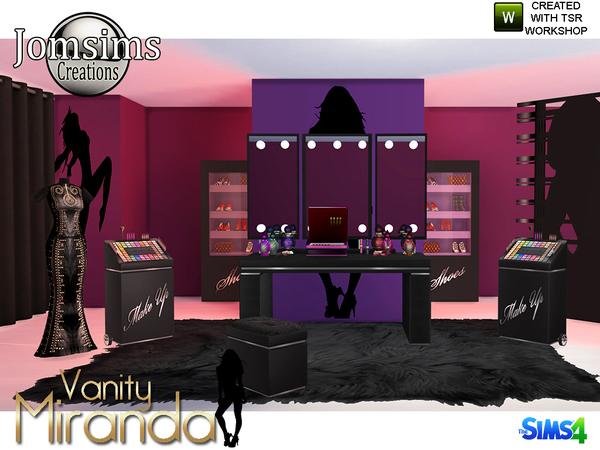 Miranda vanity beauty set by jomsims at TSR image 6513 Sims 4 Updates