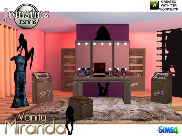 Miranda vanity beauty set by jomsims at TSR image 6612 Sims 4 Updates