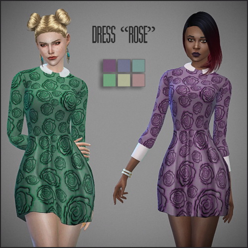 Rosie Dress by Sirena at Ladesire image 671 Sims 4 Updates