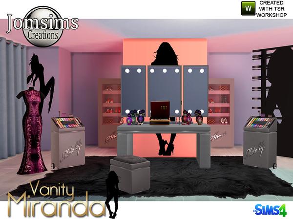 Miranda vanity beauty set by jomsims at TSR image 6712 Sims 4 Updates