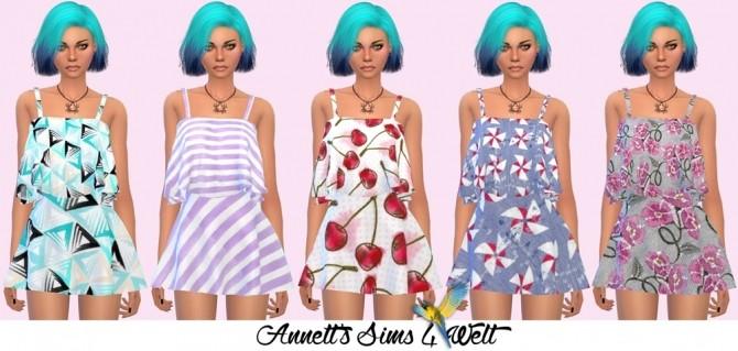 Sims 4 Marigolds Skirt & Top Recolors at Annett's Sims 4 Welt