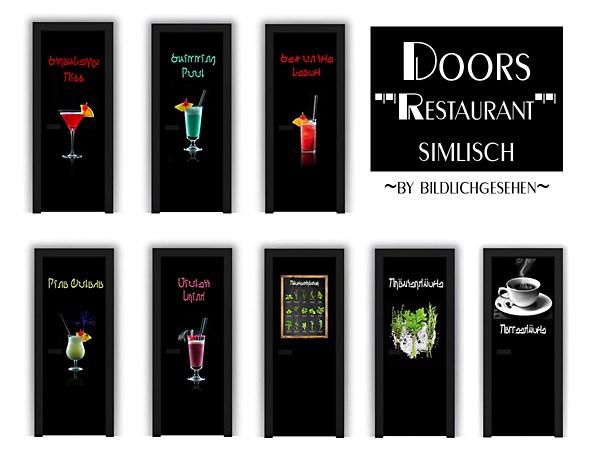 Simlisch Restaurant Doors by Bildlichgesehen at Akisima image 678 Sims 4 Updates