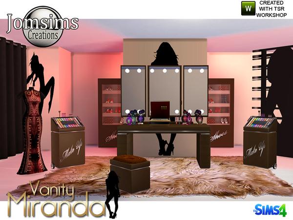Miranda vanity beauty set by jomsims at TSR image 6813 Sims 4 Updates