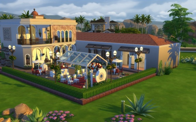 Italian Restaurant At Via Sims 187 Sims 4 Updates