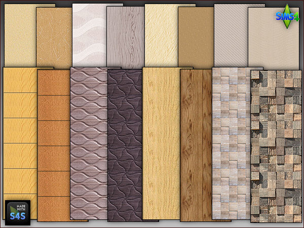 2 wooden panels and 2 wallpapers by Mabra at Arte Della Vita image 691 Sims 4 Updates