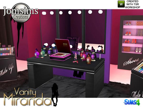 Miranda vanity beauty set by jomsims at TSR image 6912 Sims 4 Updates