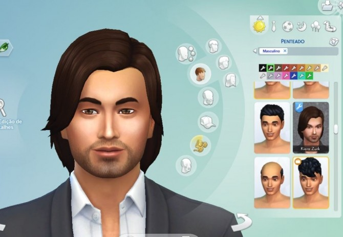 Sims 4 Mid Side Hair Conversion at My Stuff