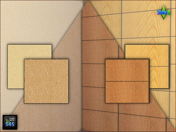 2 wooden panels and 2 wallpapers by Mabra at Arte Della Vita image 701 Sims 4 Updates