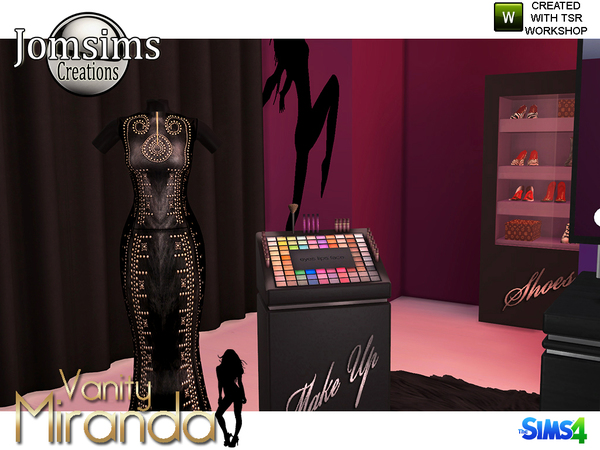 Sims 4 Miranda vanity beauty set by jomsims at TSR