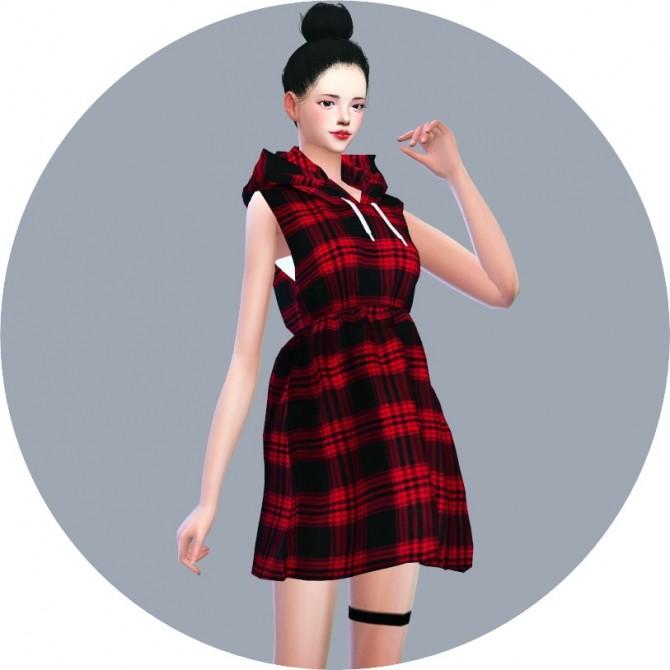 Hood Sleeveless Dress at Marigold image 7018 670x670 Sims 4 Updates
