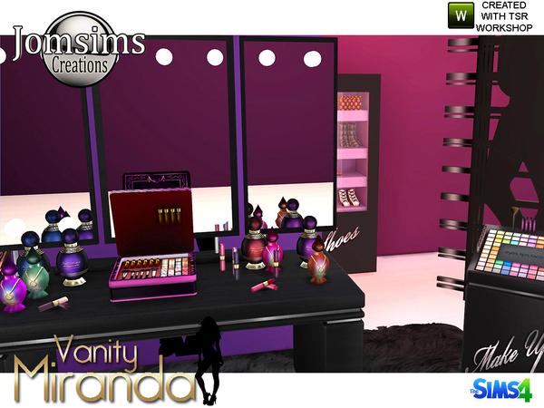 Miranda vanity beauty set by jomsims at TSR image 7117 Sims 4 Updates