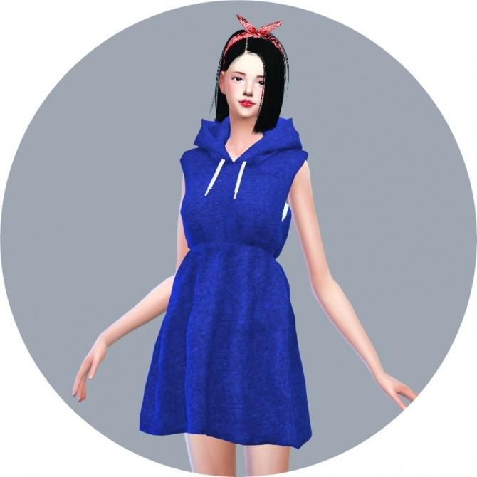 Hood Sleeveless Dress at Marigold image 7122 670x670 Sims 4 Updates