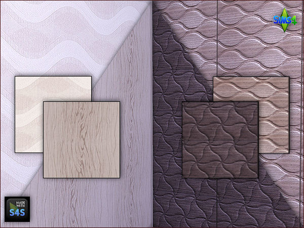 2 wooden panels and 2 wallpapers by Mabra at Arte Della Vita image 721 Sims 4 Updates