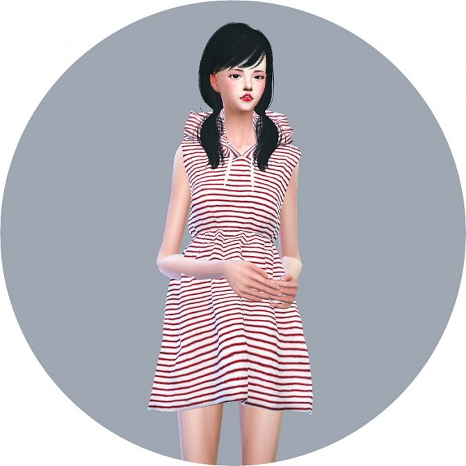 Hood Sleeveless Dress at Marigold image 7219 670x670 Sims 4 Updates