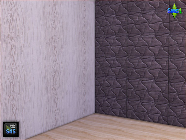 2 wooden panels and 2 wallpapers by Mabra at Arte Della Vita image 731 Sims 4 Updates