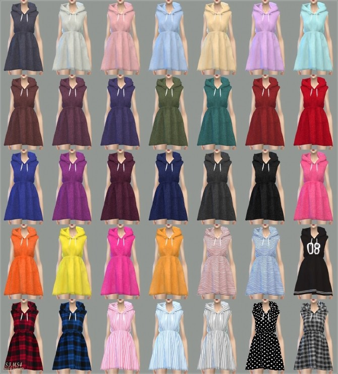 Hood Sleeveless Dress at Marigold image 7318 670x740 Sims 4 Updates
