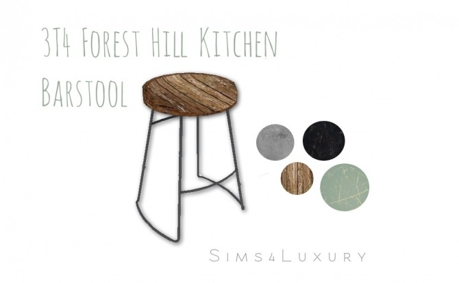 Sims 4 3T4 Forest Hill Kitchen Barstool conversion at Sims4 Luxury