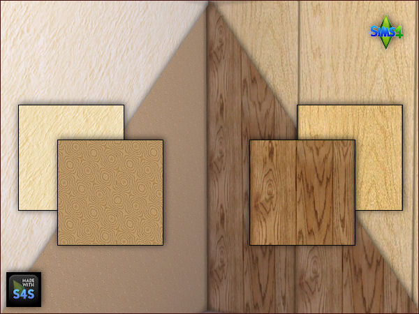 2 wooden panels and 2 wallpapers by Mabra at Arte Della Vita image 741 Sims 4 Updates