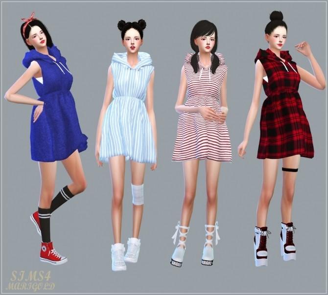 Hood Sleeveless Dress at Marigold image 7417 670x603 Sims 4 Updates