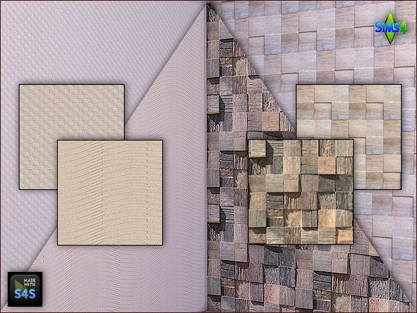 2 wooden panels and 2 wallpapers by Mabra at Arte Della Vita image 751 Sims 4 Updates