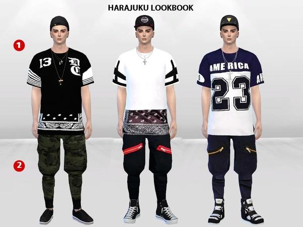 Harajuku Lookbook Set By Mclaynesims At Tsr 187 Sims 4 Updates